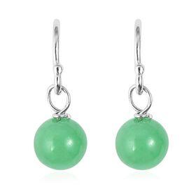 Green Jade (Rnd) Earrings in Sterling Silver 6.00 Ct.