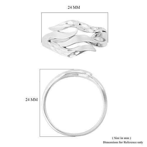 LucyQ Flame Collection - Rhodium Overlay Sterling Silver Ring