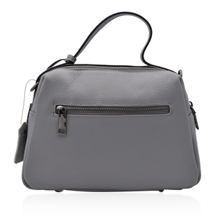 Sencillez 100% Genuine Leather Convertible Bag in Grey