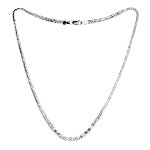 Vicenza Collection - Sterling Silver Bismark Necklace (Size 18). Silver wt 5.50 Gms