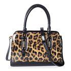 HONG KONG CLOSE OUT- High Glossed Leopard Pattern Handbag with Adjustable and Removable Shoulder Str