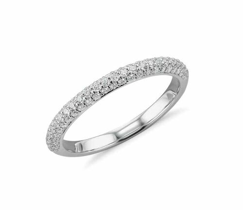 New York Close Out Deal -14K White Gold Natural Diamond (12/G-H) Ring 0.25 Ct. Size N