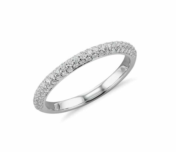 New York Close Out Deal -14K White Gold Natural Diamond (12/G-H) Ring 0.25 Ct.