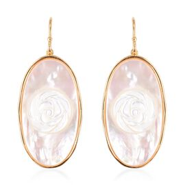 White Mother of Pearl (23.50 Ct) Sterling Silver Earring  23.500  Ct.