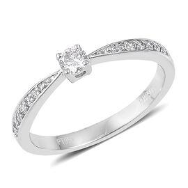 Rhapsody 1/4 Carat Diamond IGI Certified (VS/F) Ring in 950 Platinum