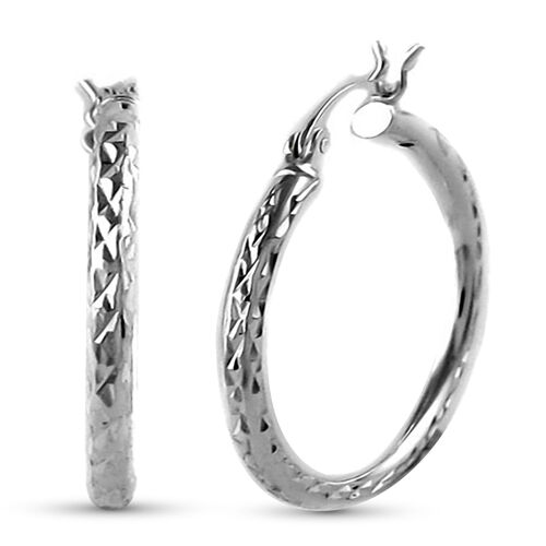 Sterling Silver Hoop Earrings (with Clasp)