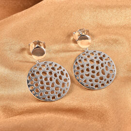 RACHEL GALLEY Allegro Collection- Rhodium Overlay Sterling Silver Earrings (with Push Back), Silver Wt. 8.30 Gms.