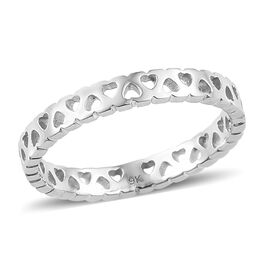 9K White Gold Band Ring