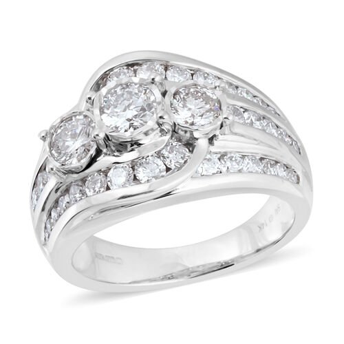 New York Close Out Deal- SI Diamond 14K W Gold Ring  2.000  Ct.