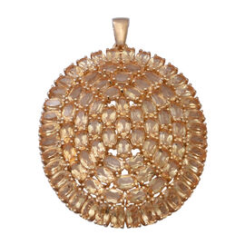 Citrine Pendant in Yellow Gold Overlay Sterling Silver 20.02 Ct, Silver wt. 9.00 Gms