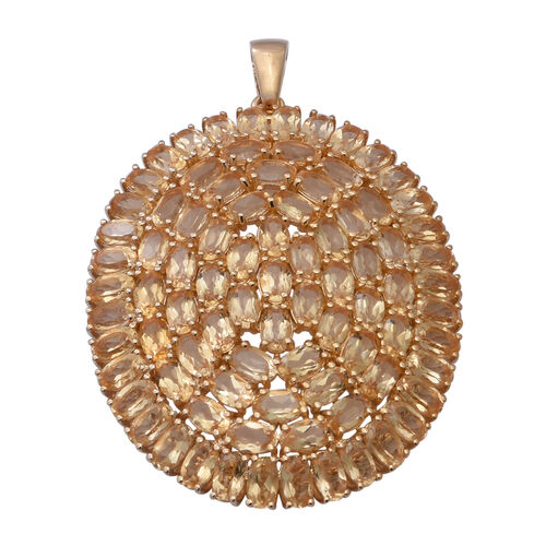 AA Citrine Pendant in Yellow Gold Overlay Sterling Silver 20.02 Ct, Silver wt. 9.00 Gms