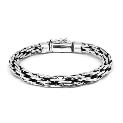 Royal Bali Collection Sterling Silver Woven Link Bracelet (Size 8), Silver wt 37.24 Gms.