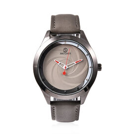 STRADA Japanese Movement Watch with Dark Grey Strap