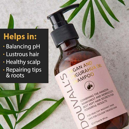 Douvalls: Argan and Ungurahua Oil Shampoo - 275ml (With Free New Wrinkle Rehab Serum - 5ml)