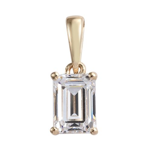 J Francis - 9K Yellow Gold (Oct) Pendant Made with SWAROVSKI ZIRCONIA