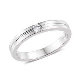 RHAPSODY 950 Platinum IGI Certified Diamond (Rnd) (VS/E-F) Ring 0.070 Ct, Platinum wt 6.47 Gms.