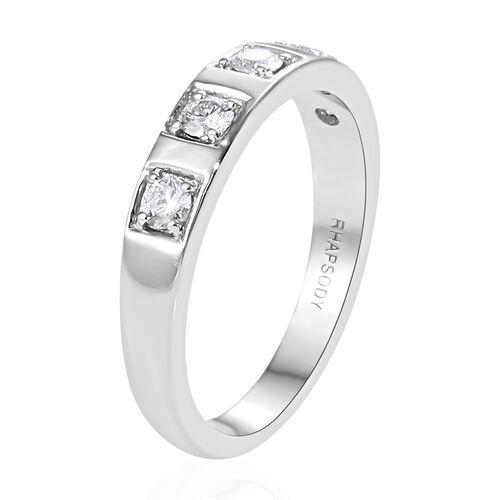 RHAPSODY 950 Platinum IGI CERTIFIED Diamond (Rnd) (VS / E-F) Band Ring 0.330 Ct, Platinum wt 5.91 Gms.