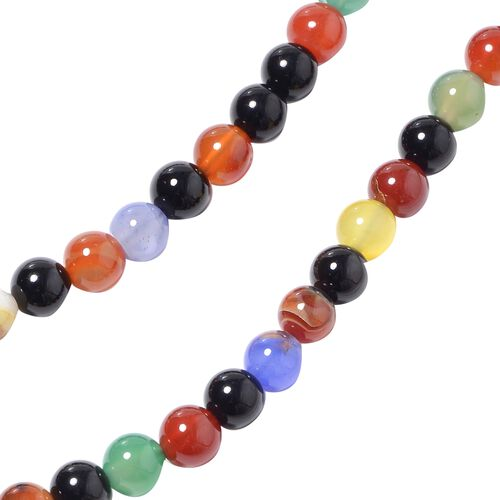 Classic Endless Multi Colour Agate Necklace (Size 60) 690.00 Ct.