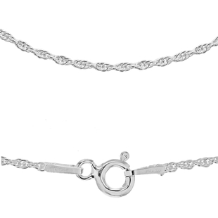 Sterling Silver Prince of Wales Chain (Size 24), Silver wt 3.70 Gms