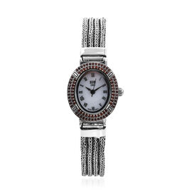 Royal Bali Collection - EON 1962 Swiss Movement Mozambique Garnet Studded Water Resistant Tulang Nag