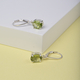 MP Hebei Peridot Earrings (with Lever Back) in Rhodium Overlay Sterling Silver 2.60 Ct.
