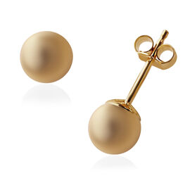 Vicenza Collection 9K Yellow Gold Ball Stud Earrings (with Push Back)