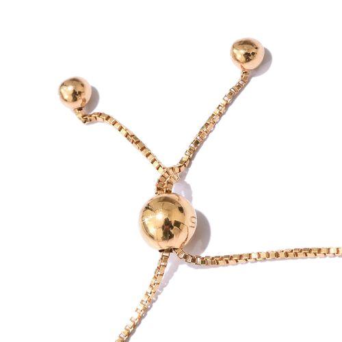 Diamond (Rnd) Adjustable Bracelet (Size 6.5 to 8) in 14K Gold Overlay Sterling Silver 0.400 Ct.