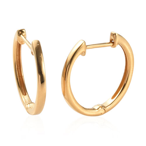 Sundays Child - Yellow Gold Vermeil Sterling Silver Earrings (with Clasp)