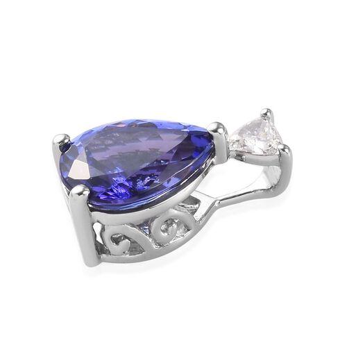 RHAPSODY 950 Platinum AAAA Tanzanite and Diamond (VS/E-F) Pendant 1.50 Ct.
