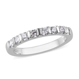 RHAPSODY 950 Platinum IGI Certified Diamond (VS/E-F) Eternity Band Ring 0.50 Ct.