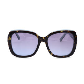 JUST CAVALLI Blue and Brown Square Tortoise Sunglasses