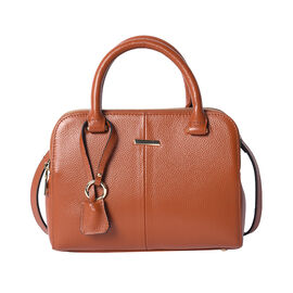 100% Genuine Leather Handbag (25x19x8cm) with Detachable and Adjustable Shoulder Strap (L:120cm) - T