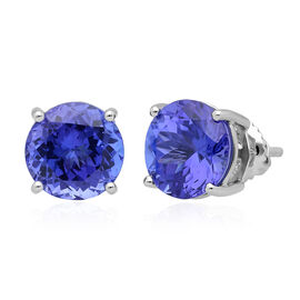 RHAPSODY 950 Platinum AAAA Tanzanite (Rnd) Stud Earrings (with Screw Back) 5.50 Ct.
