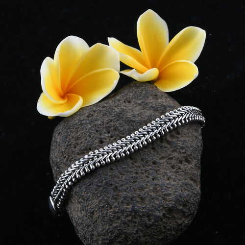 Royal Bali Collection Sterling Silver Tulang Naga  Bracelet (Size 7.5), Silver wt 21.47 Gms.