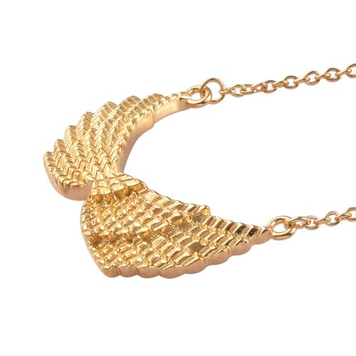 14K Gold Overlay Sterling Silver Necklace (Size 18), Silver wt 5.00 Gms