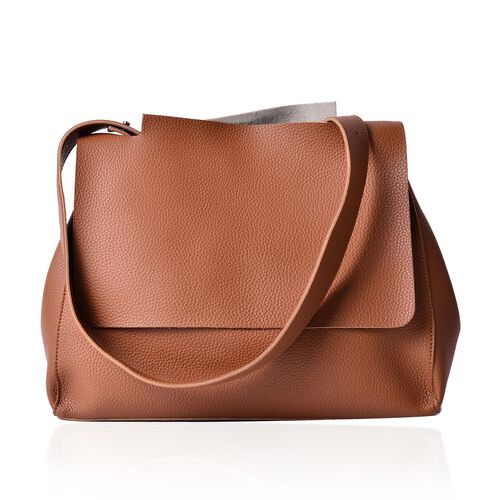 Marley Carryall Chocolate Colour Shoulder Bag with Adjustable Strap (Size 37x31x14 Cm)