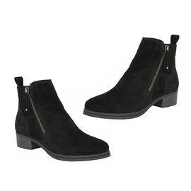 Lotus Stressless Black Suede Samara Ankle Boots