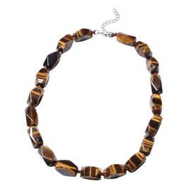 Yellow Tiger Eye Beaded Necklace 18 with 4 inch Extender
