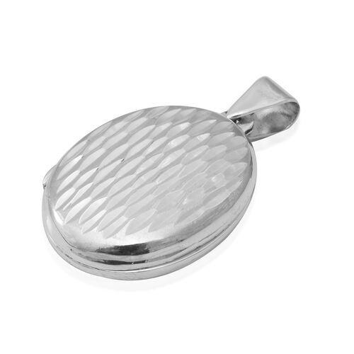 Designer Inspired- Sterling Silver Diamond Cut Locket,