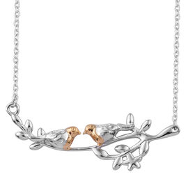 Yellow Gold and Platinum Overlay Sterling Silver Necklace (Size 18)