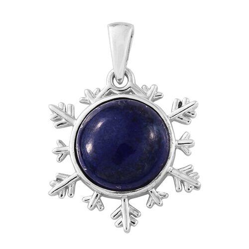 Lapis Lazuli (Rnd) Pendant in Platinum Overlay Sterling Silver 7.250 Ct.