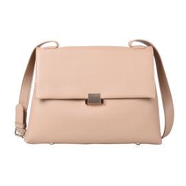 PASSAGE. lifestyle-Color:beige; size/Profile:Crossbody bag;wall(exterior);Semi-PU. Lining(interior):