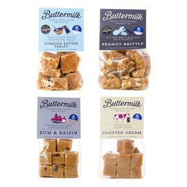 Set of 4 - Buttermilk Dads 4 x 175g Grab Bag Bundle (1 x peanut brittle, 1 x clotted cream, 1 x tabl