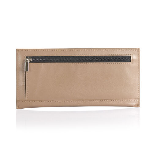 Genuine Leather RFID Blocker Light Brown Colour Wallet with Card Holder (Size 20x8 Cm)