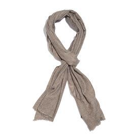 Italian Designer Cashmere Wool Blend Brown Scarf