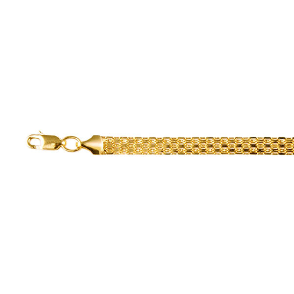 Chain Bracelet with Lobster Clasp in 9K Yellow Gold 8.5 Inch