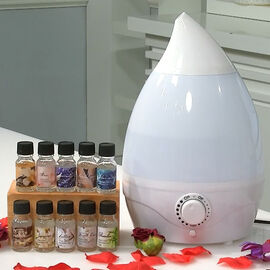 2-in-1 Aromatherapy Humidifier Diffuser With 10 Fragrance Oils (Size :21x21x31cm) - 1800ml Capacity