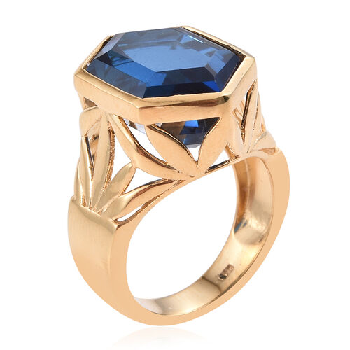 Ceylon Colour Quartz Ring in 14K Gold Overlay Sterling Silver 15.000 Ct.