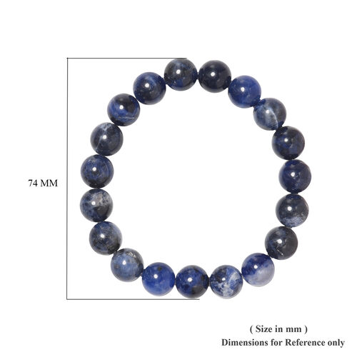 Sodalite Beaded Stretchable Bracelet (Size 6.5) 131.50 Ct.