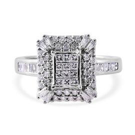 RHAPSODY 1 Carat Diamond Cluster Ring in 950 Platinum IGI CERTIFIED EF VS